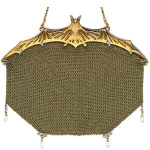 Bat Motif Evening Bag.