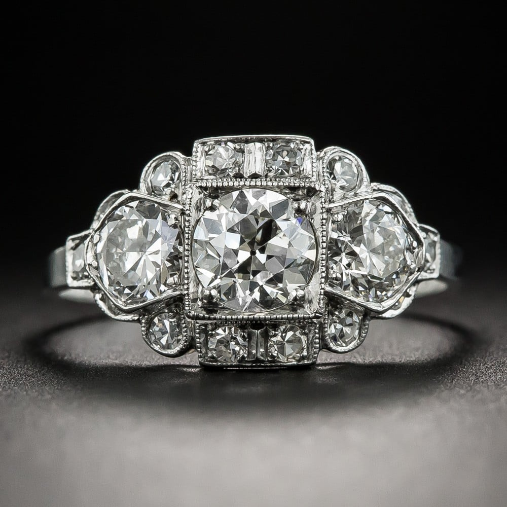 Art Deco Diamond and Platinum Ring, by C.D. Peacock.