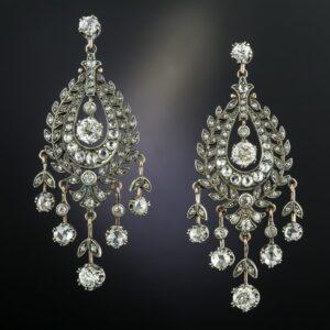 VIctorian Diamond Chandelier Earrings