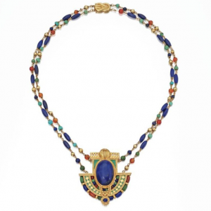 Egyptian Revival Necklace, Louis Comfort Tiffany, Tiffany & Co., c.1913. Photo Courtesy of Sotheby's.