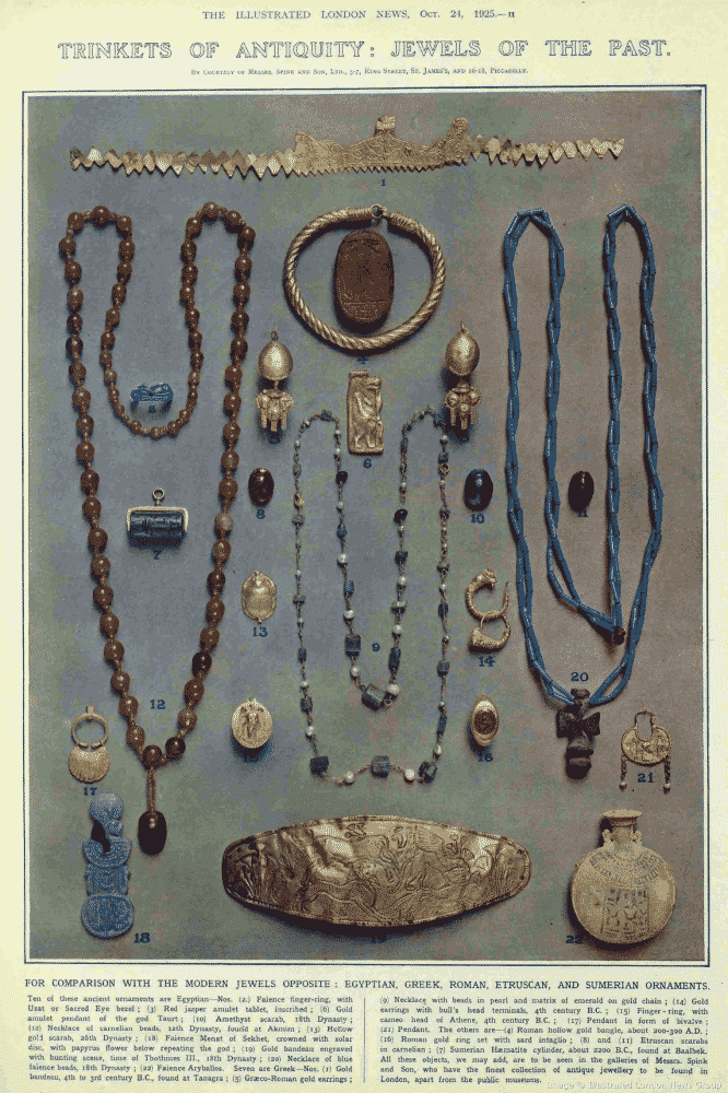 Trinkets of Antiquity Jewels of the Past. The Illustrated London News, October 24, 1925.