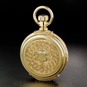 Hunting Case Pocket Watch, Elgin 18K Yellow Gold.