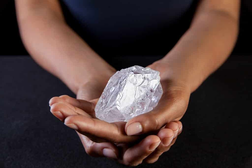 1,109-Carat Diamond, Lesedi La Rona, from the Lucara Mine, Botswana. Photo Courtesy of the New York Times.