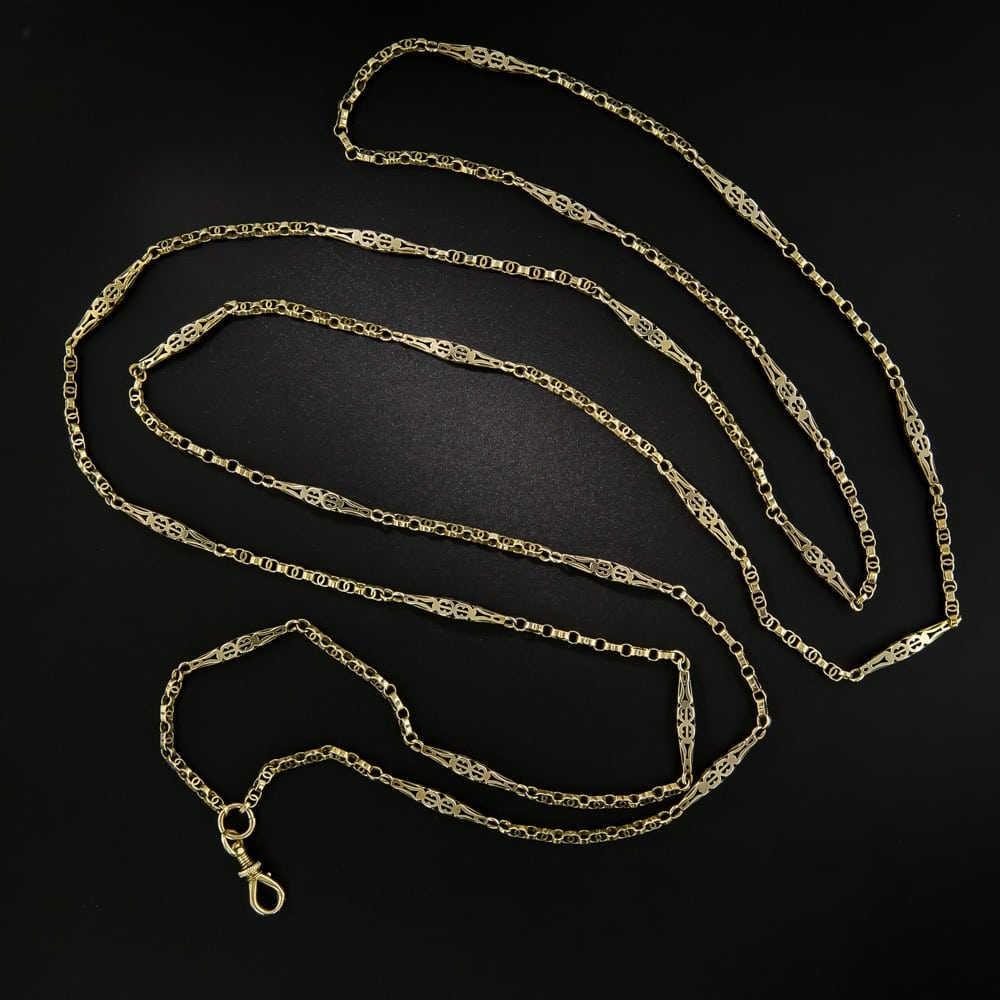 Victorian Longchain with Swivel Hook.
