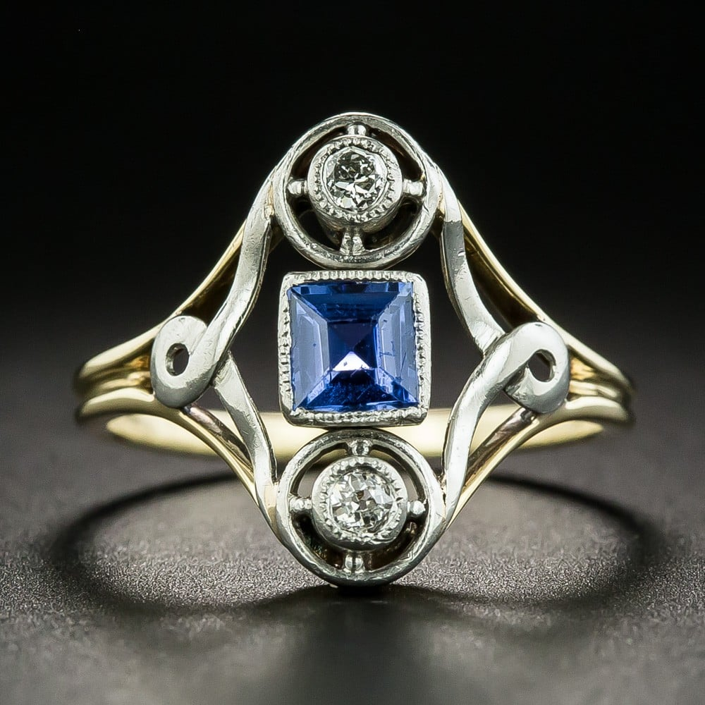 Montana Sapphire and Diamond Ring.