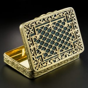 Shreve & Co. Engraved and Enameled Box, c.early 20th Century.
