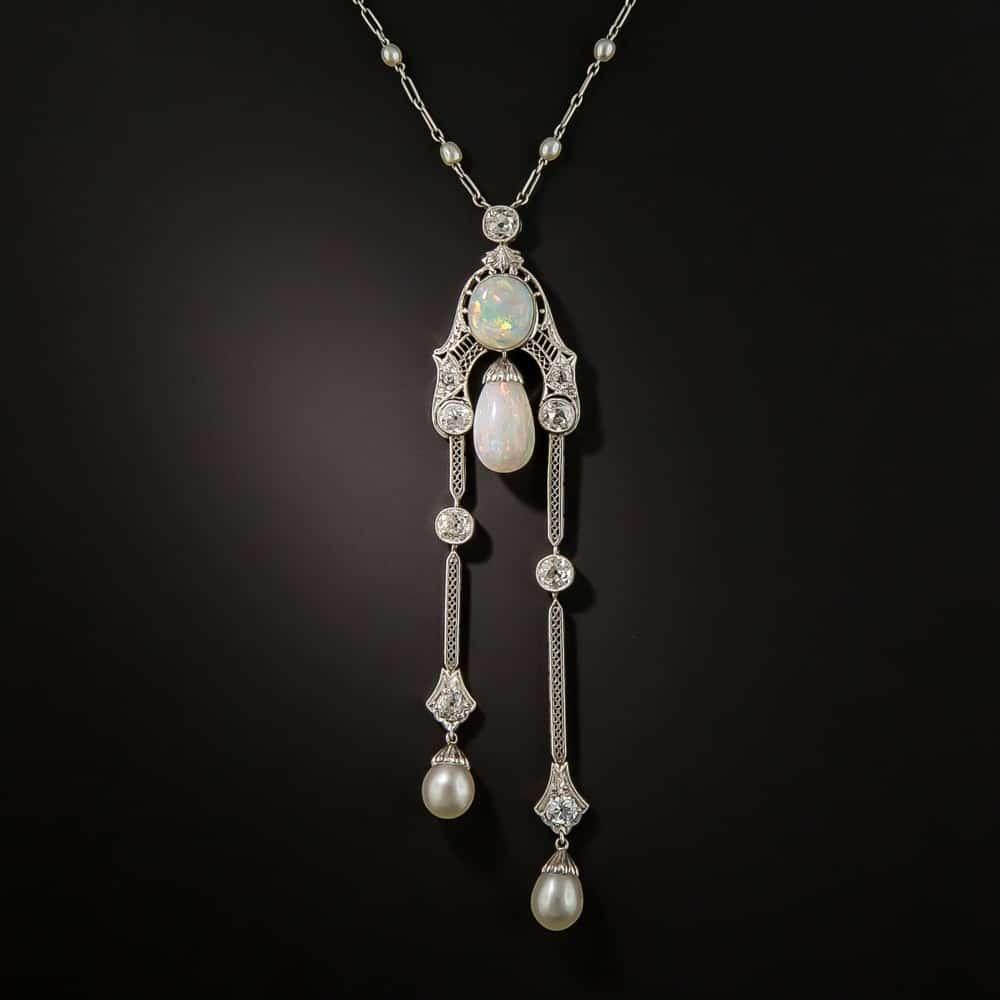 Négligée - Edwardian Opal, Pearl, and Diamond.