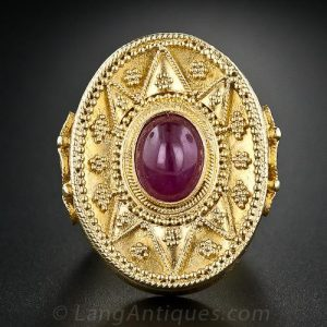 Lalaounis Cabochon Ruby Ring.