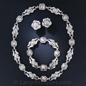 Georg Jensen Sterling Silver Jewelry Suite, c. Mid-Century.