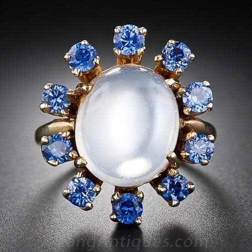 Montana Sapphire and Moonstone Ring.