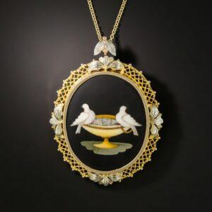 Pietra Dura Pendant/Brooch.