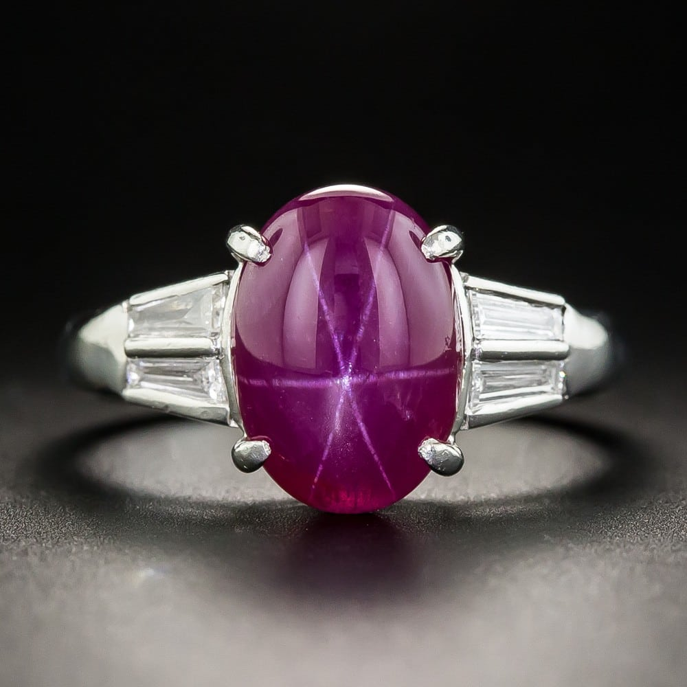 Star Ruby and Diamond Ring.