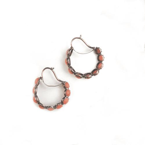 Pair of Georgian Coral Poissardes Earrings. Photo Courtesy of Bonhams.