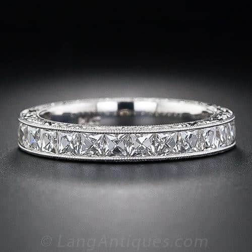 Channel-Set French-Cut Diamond Band.