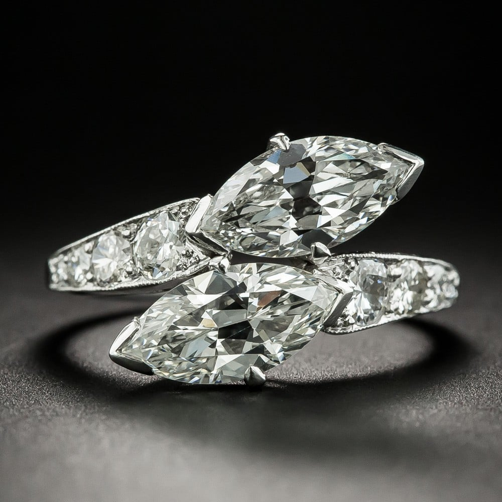 Twin Stone Marquise-Cut Diamond Ring, by Shreve, Crump & Low.