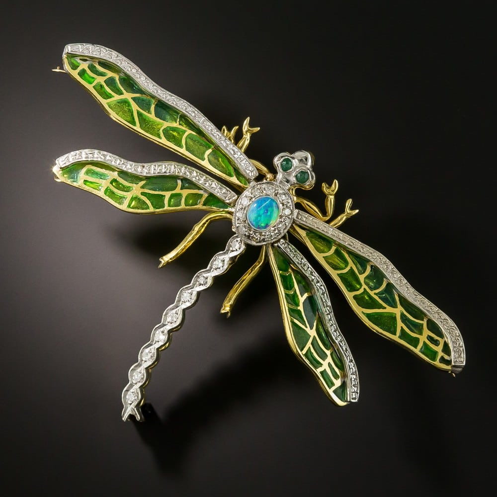 Plique-à-Jour Dragonfly Brooch.