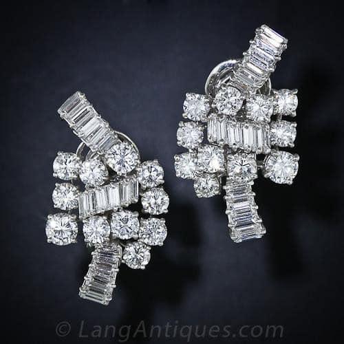 Boucheron Diamond and Platinum Ear Clips.