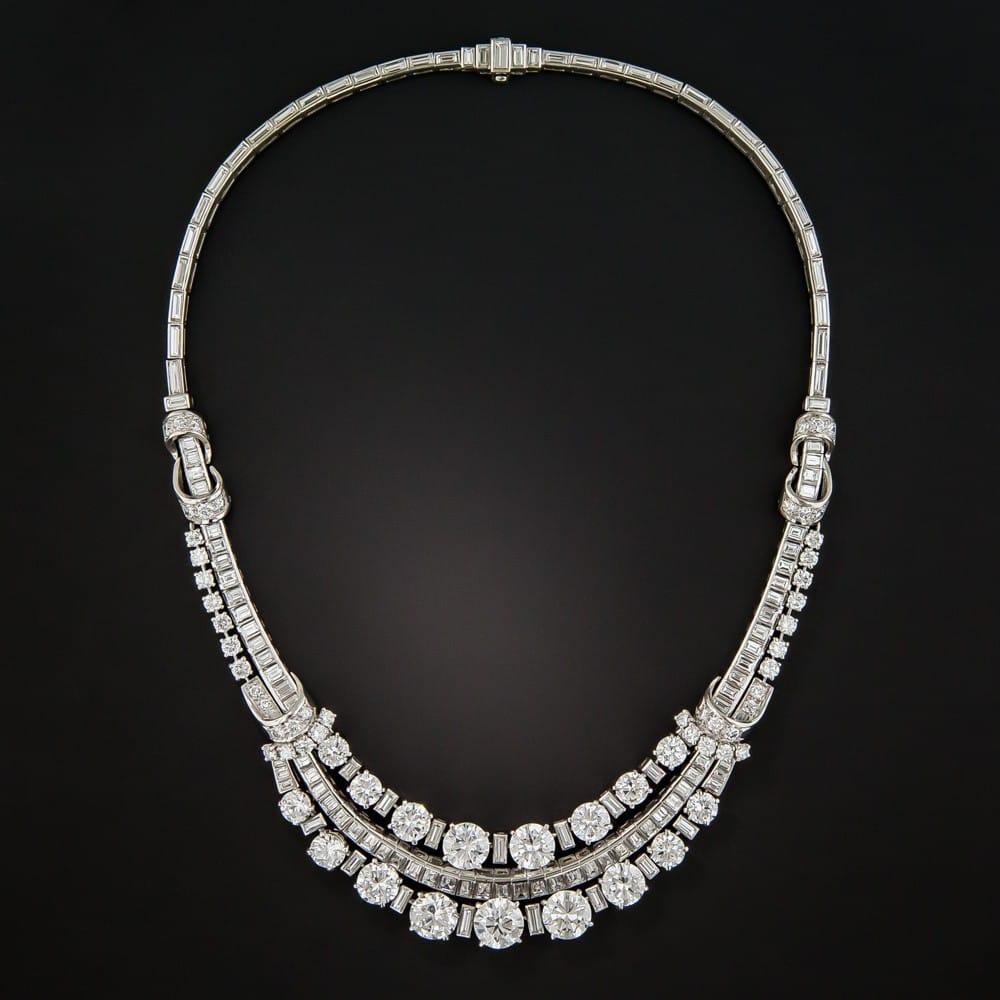 Boucheron Diamond Necklace, c. Mid-Century.