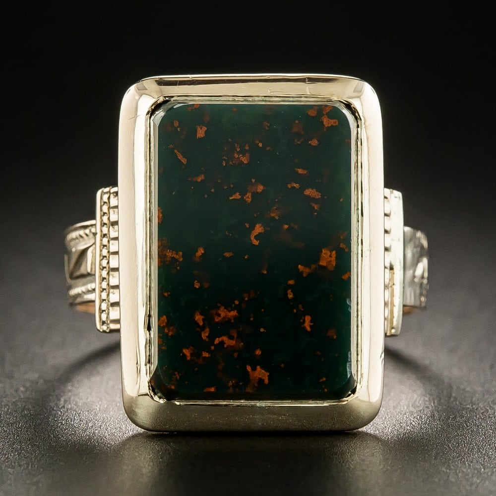 Bloodstone Victorian Ring.