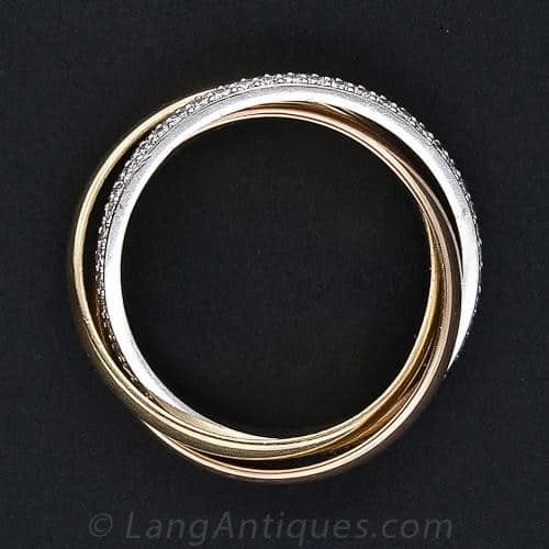 Cartier Trinity Rolling Ring.