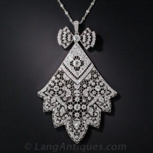 French Belle Époque Diamond Necklace.