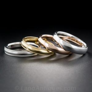 Platinum, Rose, Yellow, and White Gold (Precious Metal) Rings.