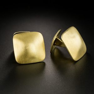 Pair of Satin Finish 18K Yellow Gold Cuff Links by Jean Dinh Van for Cartier