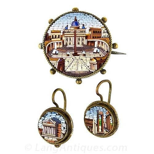 Basilica di San Pietro and ther Ruins of the Forum Depicted in Micromosaic.