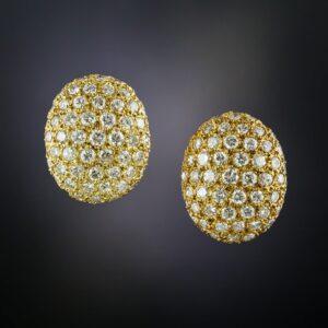 Pave Diamond Earrings.