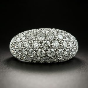 Bead-Set Diamond Pave Dome Ring.
