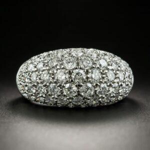 Bead-Set Diamond Pave Dome Ring.