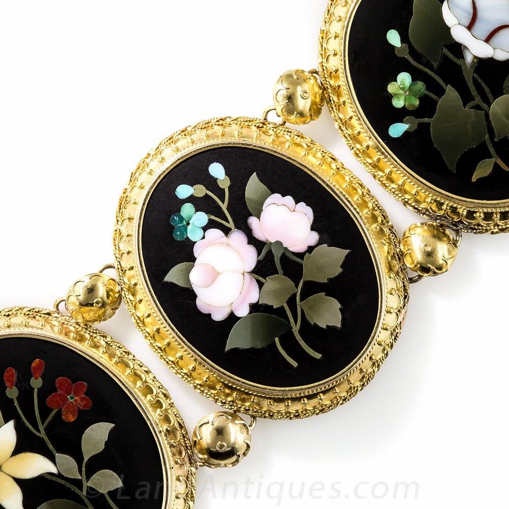 Pietra Dura Floral Bracelet.