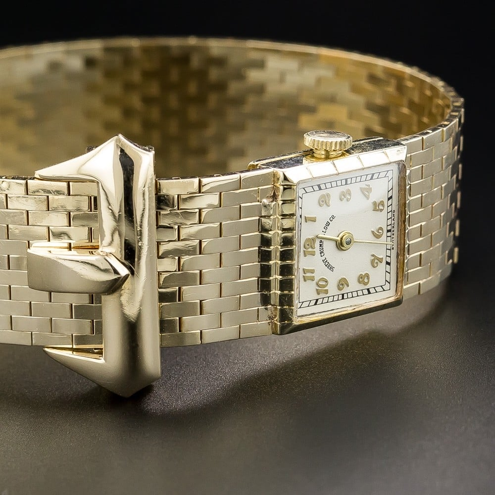 Buckle Bracelet Style Wristwatch, by Shreve, Crump & Low.