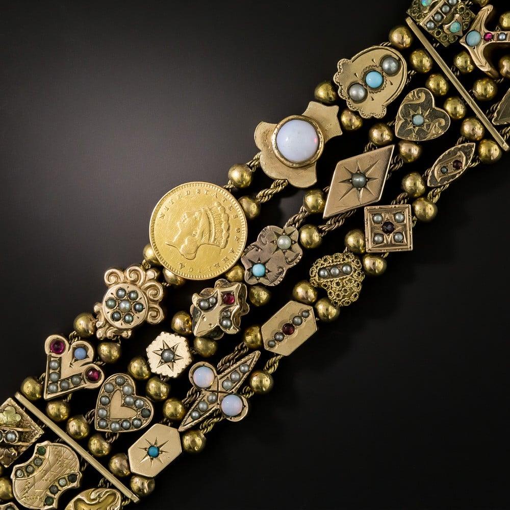 Victorian Triple Width Slide Bracelet.