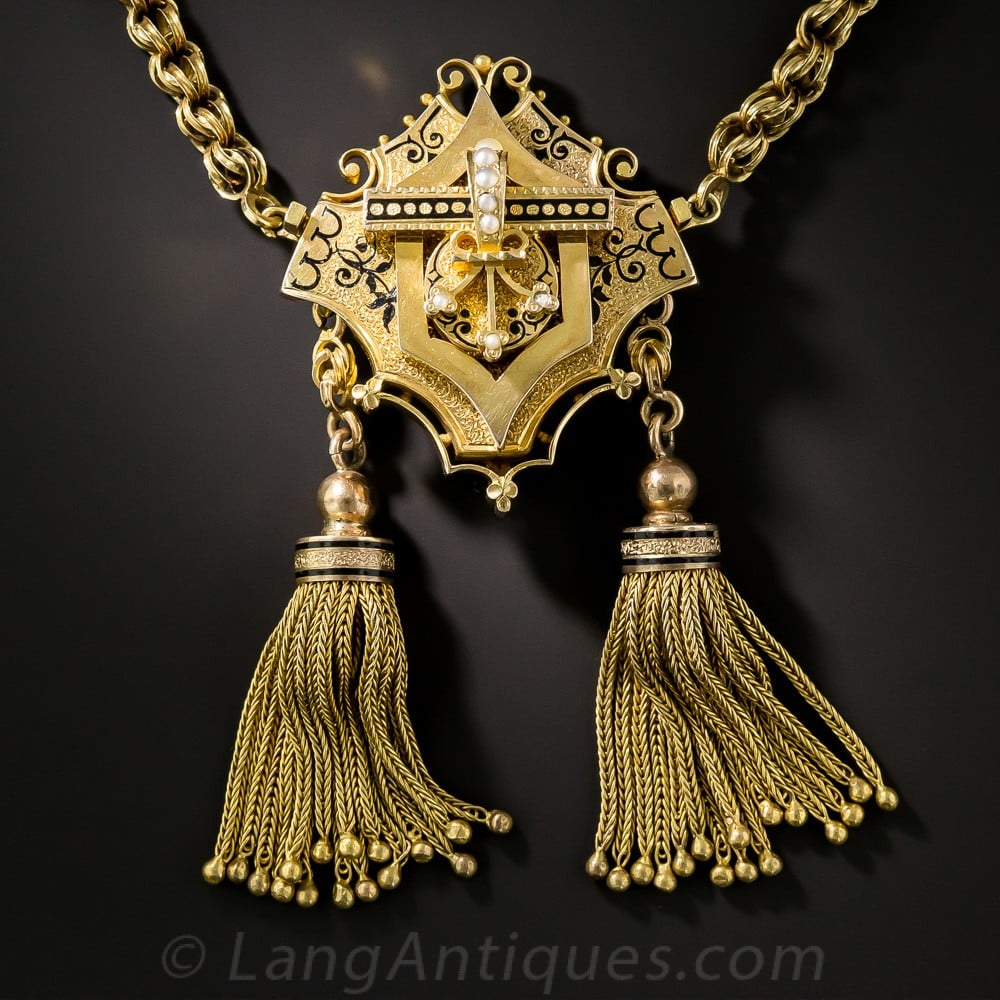 Victorian Tassel Necklace.