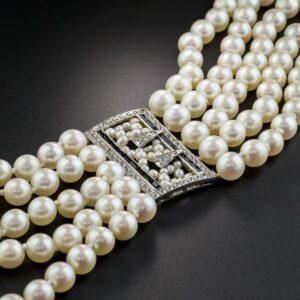 Pearl and Diamond Bracelet, Tiffany & Co.