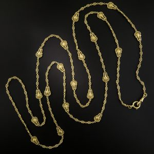 French Handmade Gold Longchain.