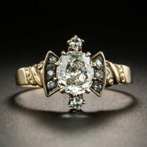 Victorian Diamond Engagement Ring.