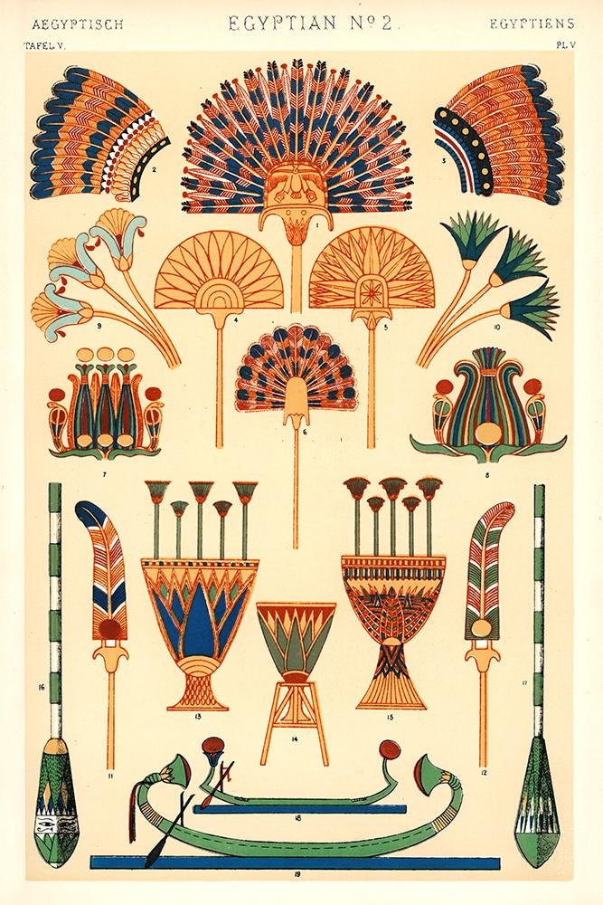 Egyptian Motifs from the Grammar of Ornament by Owen Jones.