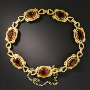 Art Nouveau Citrine Bracelet.