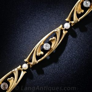 Art Nouveau Diamond Bracelet.