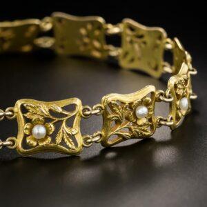 Art Nouveau Pearl Bracelet, Carter, Gough & Co.