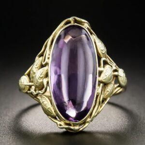 Arts & Crafts Amethyst Ring.