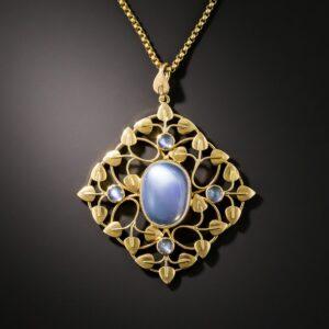 Arts & Crafts Moonstone Necklace.