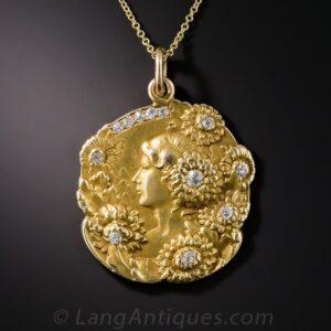 English Art Nouveau Medal Jewel.