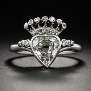 Swedish Heart-Shaped Diamond Ring.