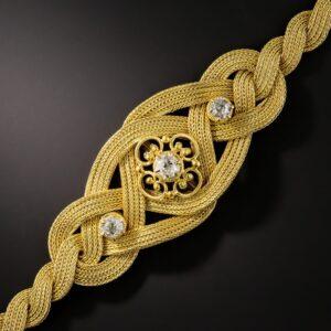 Victorian Braided Diamond Bracelet.