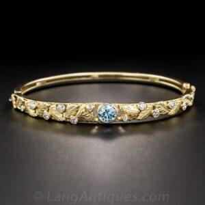 Arts & Crafts Zircon and Diamond Bracelet.