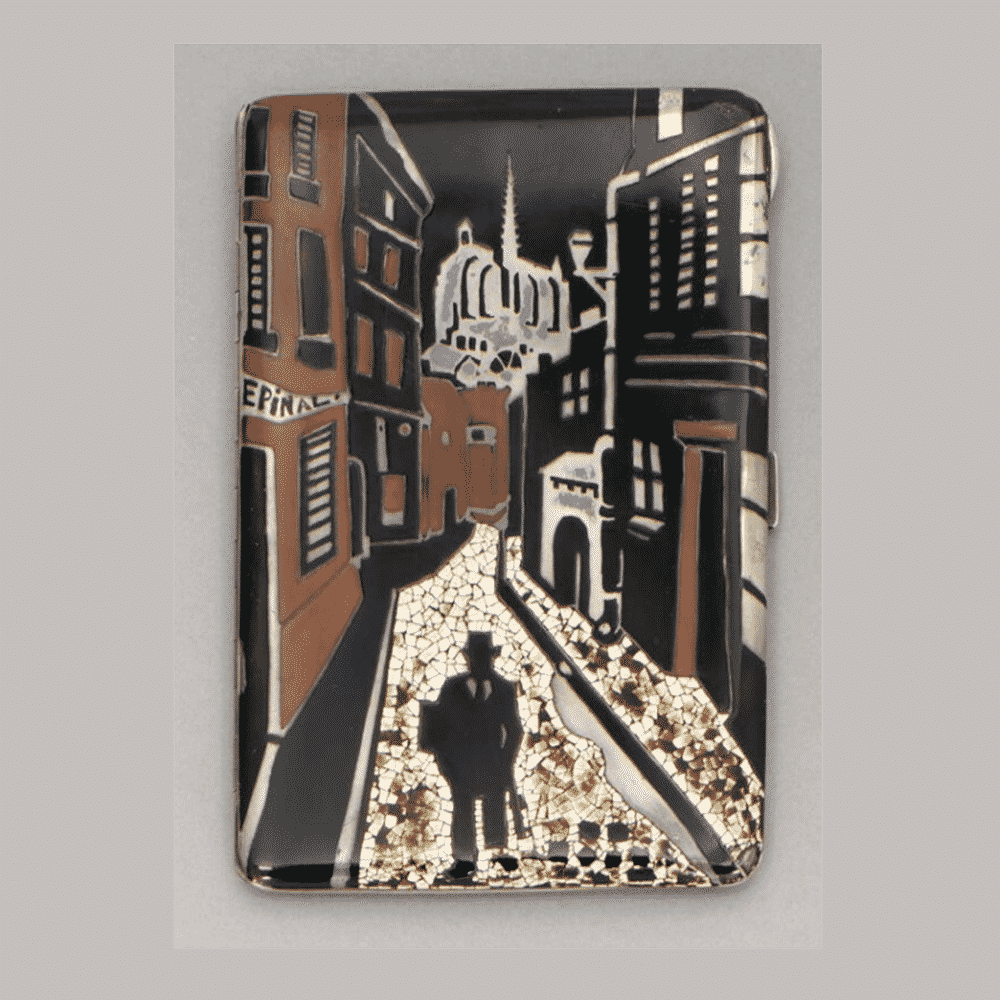 Eggshell and Lacquer Cigarette Box, Gérard Sandoz. Photo Courtesy of Christie's.
