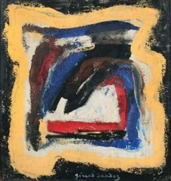 Painting by Gérard Sandoz. Photo Courtesy of Findartinfo.com.